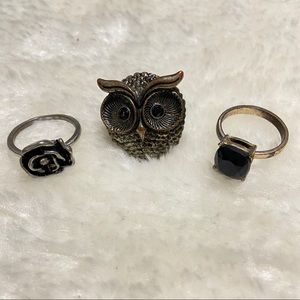 ✨3/25$✨ Lot of 3 rings - Size 9